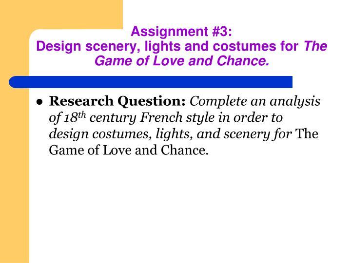 Assignment #3: