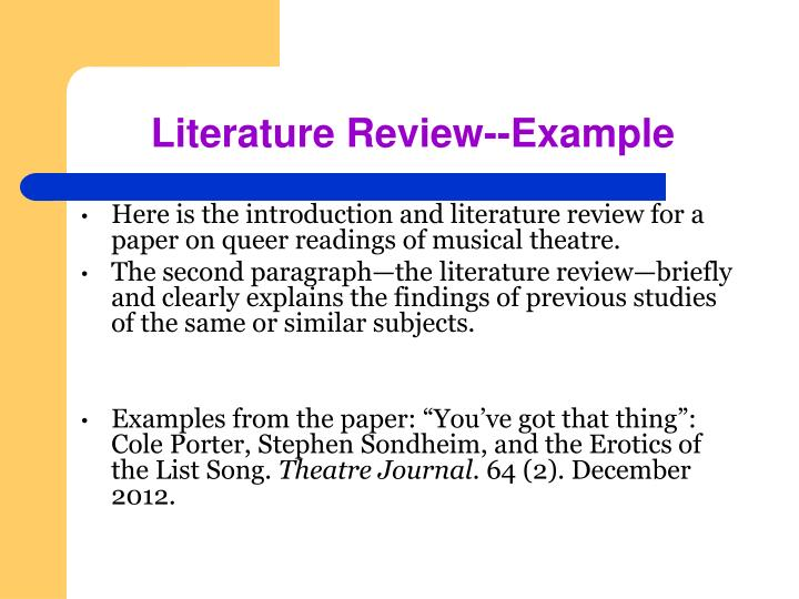 Literature Review--Example