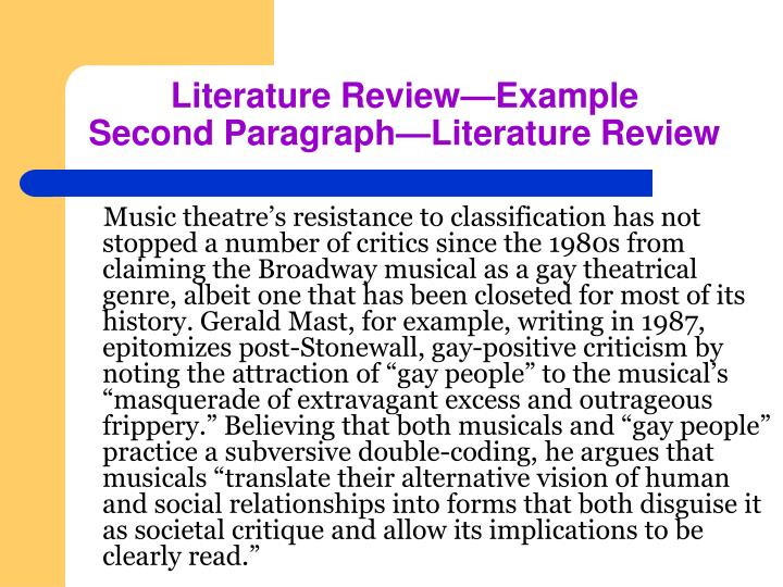 """Music theatre's resistance to classification has not stopped a number of critics since the 1980s from claiming the Broadway musical as a gay theatrical genre, albeit one that has been closeted for most of its history. Gerald Mast, for example, writing in 1987, epitomizes post-Stonewall, gay-positive criticism by noting the attraction of """"gay people"""" to the musical's """"masquerade of extravagant excess and outrageous frippery."""" Believing that both musicals and """"gay people"""" practice a subversive double-coding, he argues that musicals """"translate their alternative vision of human and social relationships into forms that both disguise it as societal critique and allow its implications to be clearly read."""""""