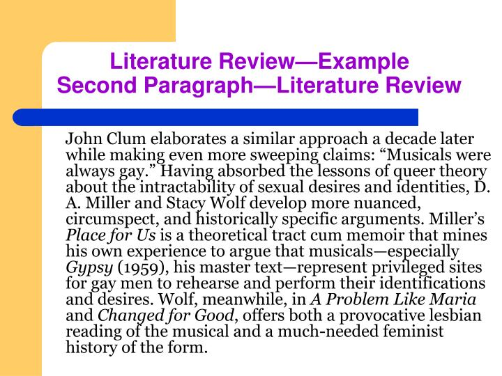 """John Clum elaborates a similar approach a decade later while making even more sweeping claims: """"Musicals were always gay."""" Having absorbed the lessons of queer theory about the intractability of sexual desires and identities, D. A. Miller and Stacy Wolf develop more nuanced, circumspect, and historically specific arguments. Miller's"""