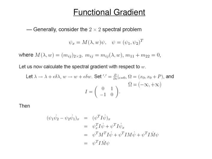 Functional Gradient