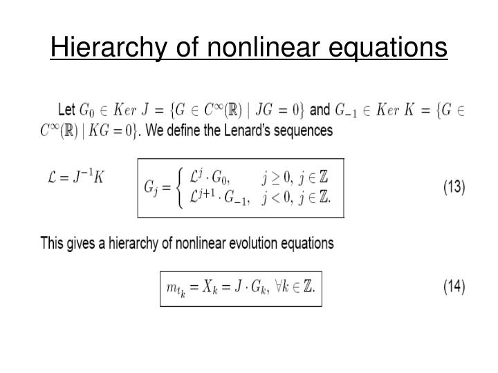 Hierarchy of nonlinear equations