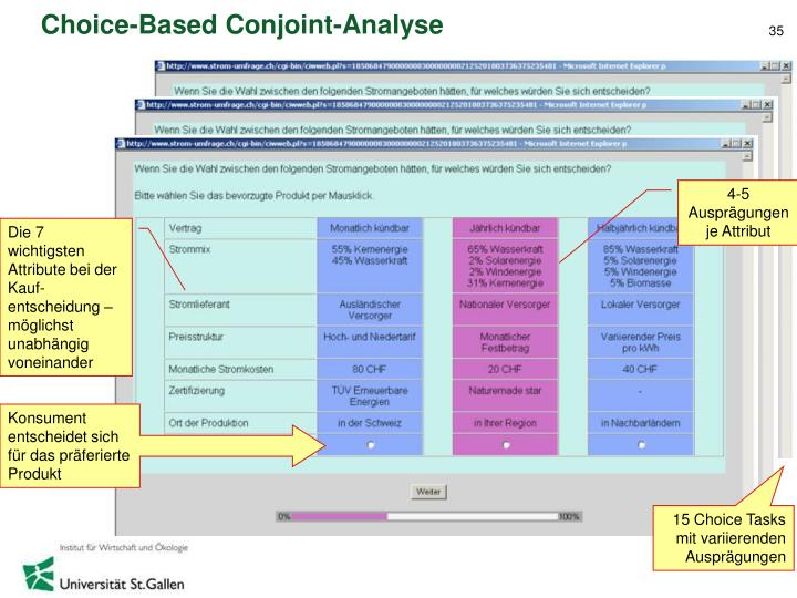 Choice-Based Conjoint-Analyse