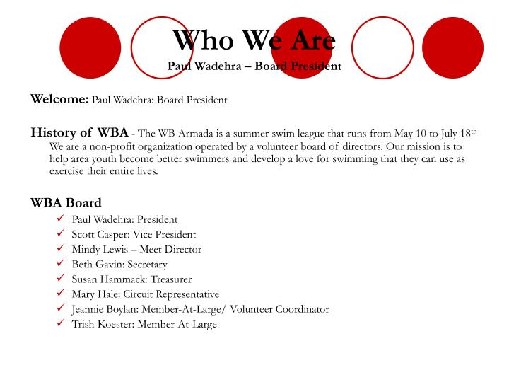 Who we are paul wadehra board president