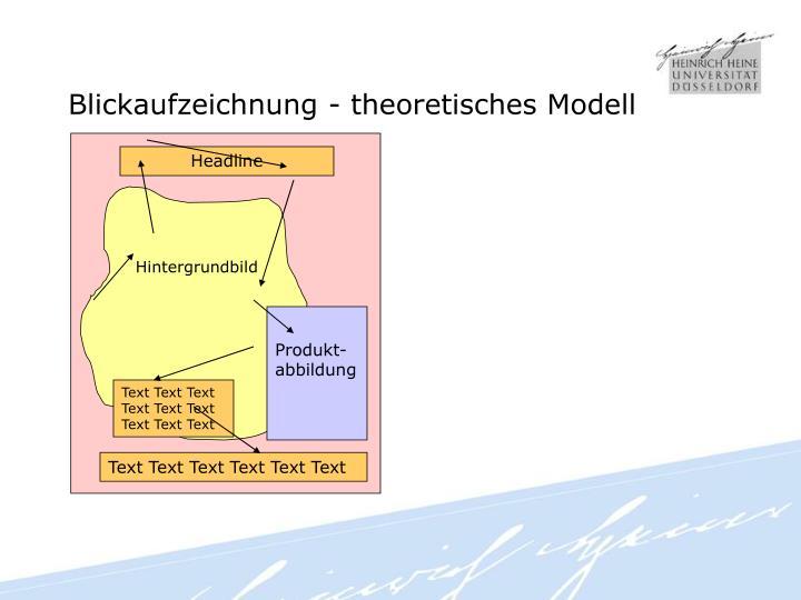 Blickaufzeichnung - theoretisches Modell