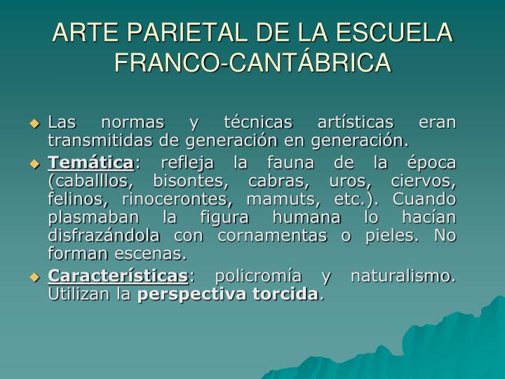 ARTE PARIETAL DE LA ESCUELA FRANCO-CANTÁBRICA