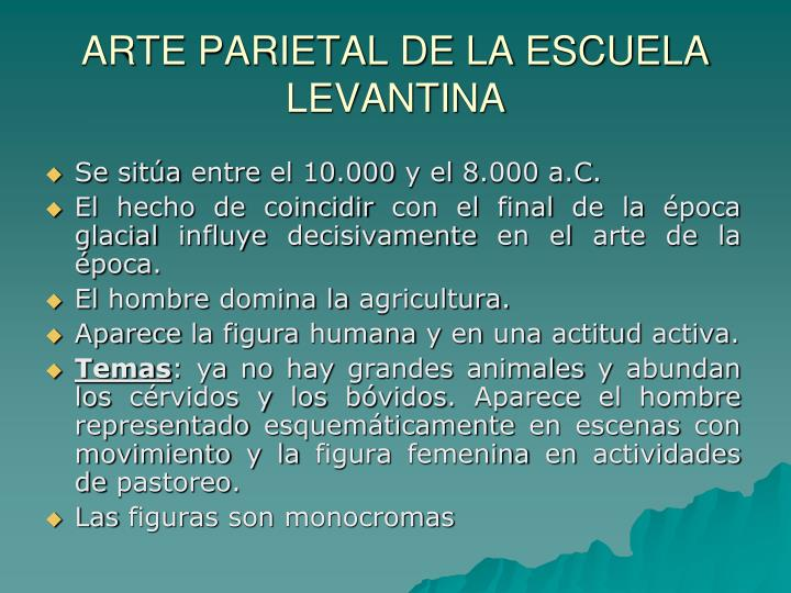 ARTE PARIETAL DE LA ESCUELA LEVANTINA