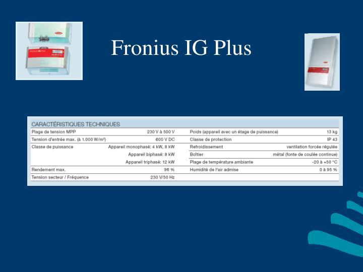 Fronius IG Plus