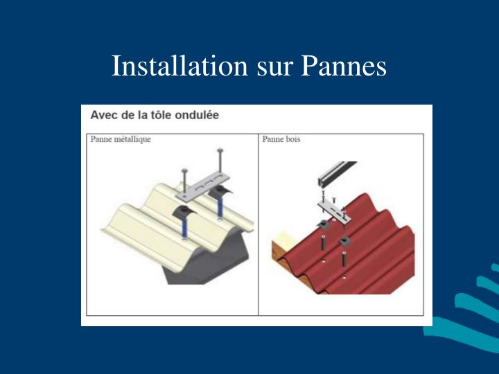 Installation sur Pannes