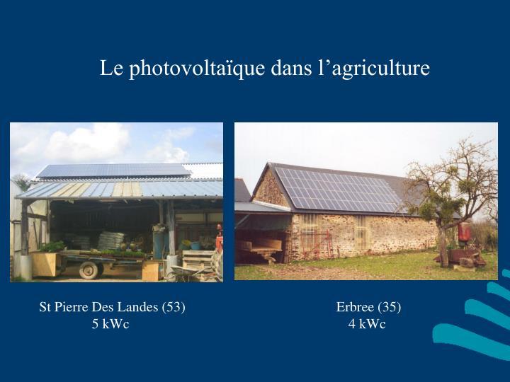 Le photovoltaïque dans l'agriculture