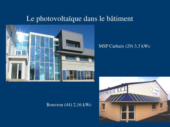 Le photovoltaïque dans le bâtiment