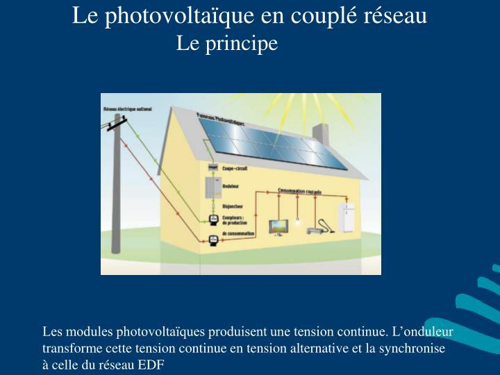 Le photovoltaïque en couplé réseau