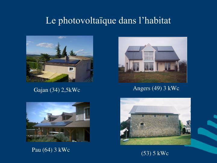 Le photovoltaïque dans l'habitat