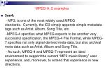 mpeg a 2 examples