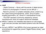 mpeg a 2 examples1