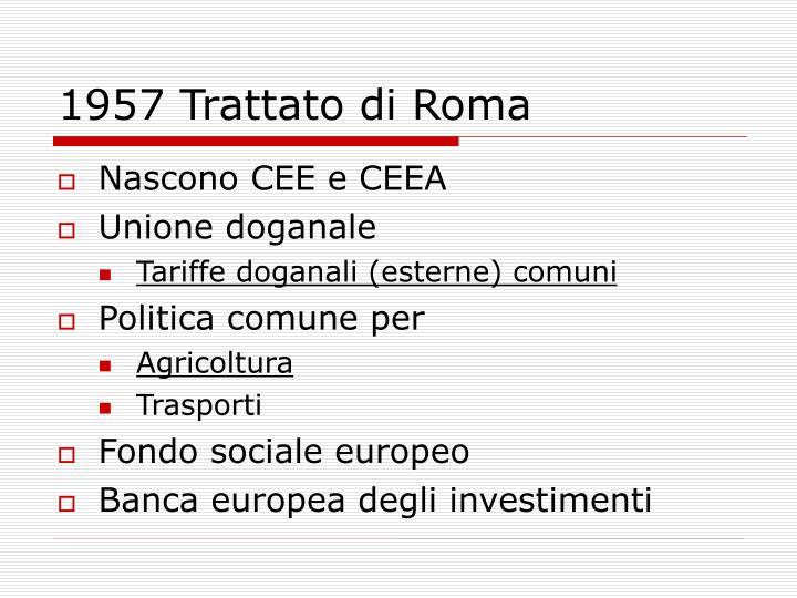 1957 Trattato di Roma