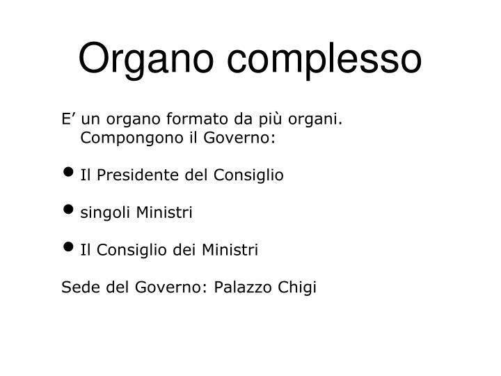 Organo complesso