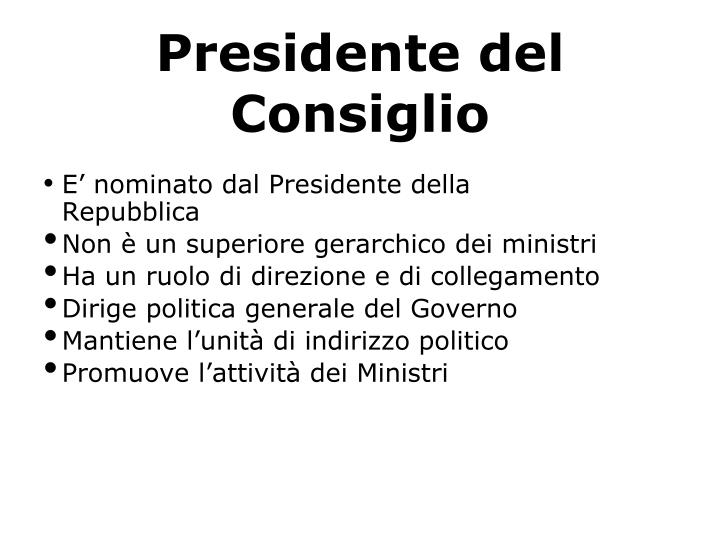 Presidente del Consiglio