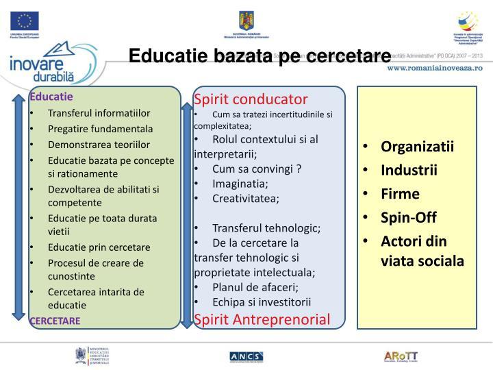 Educatie bazata pe cercetare