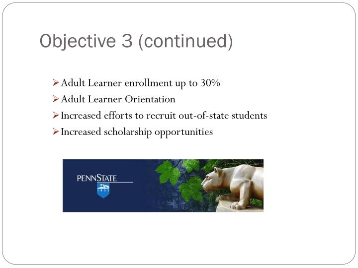Objective 3 (continued)