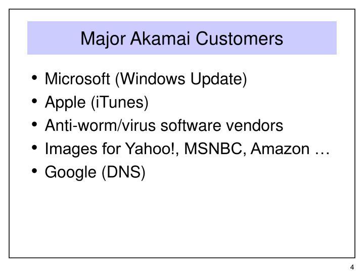 Major Akamai Customers
