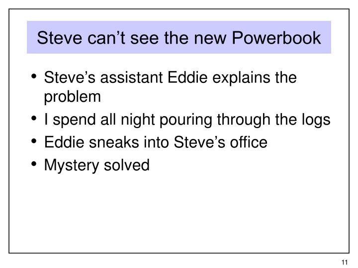 Steve can't see the new Powerbook
