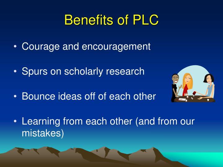 Benefits of PLC