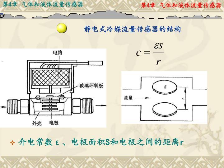 静电式冷媒流量传感器的结构