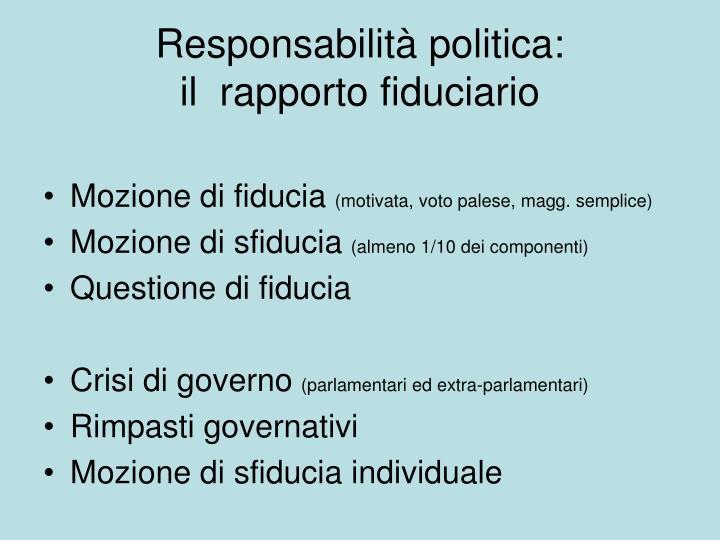 Responsabilità politica: