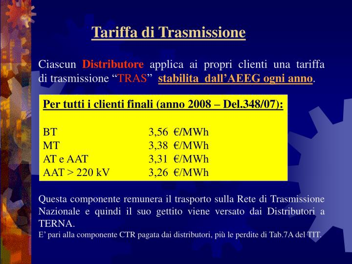 Tariffa di Trasmissione