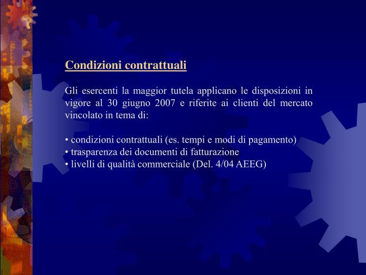 Condizioni contrattuali