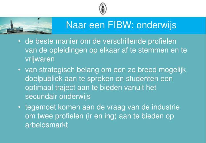 Naar een FIBW: onderwijs