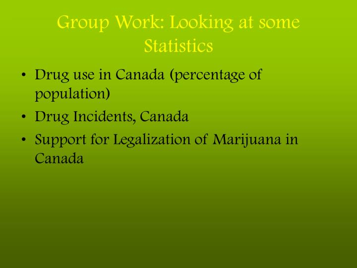 Group Work: Looking at some Statistics