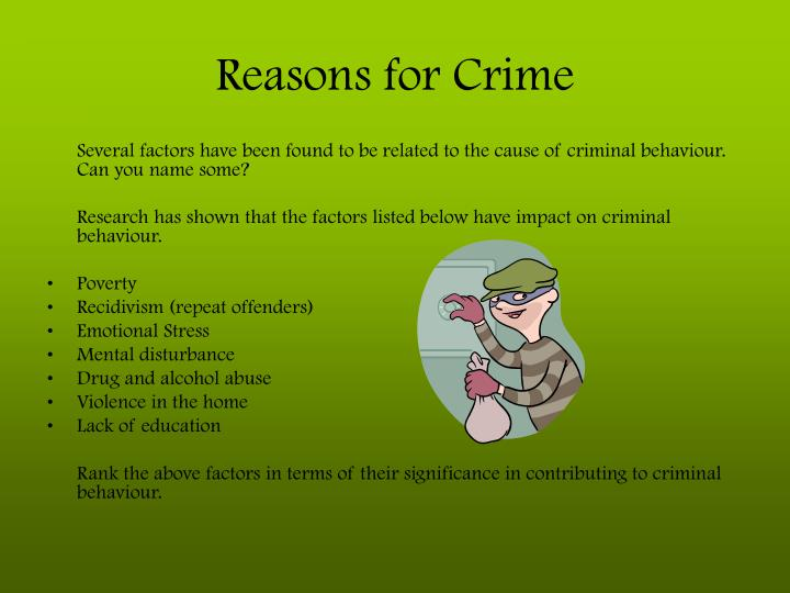 Reasons for crime