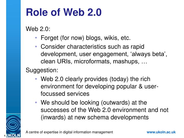 Role of Web 2.0