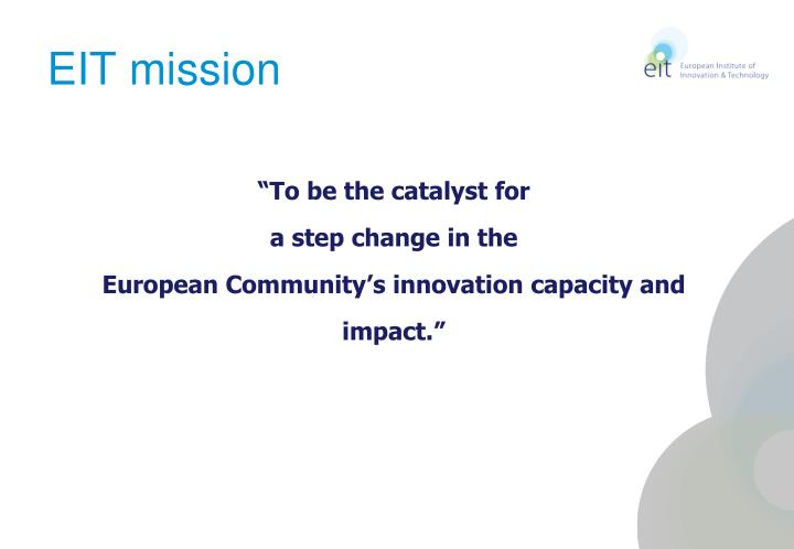 EIT mission