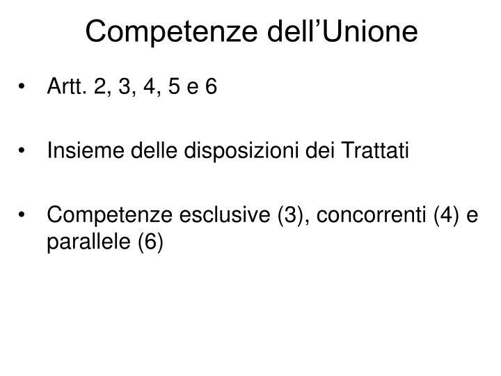 Competenze dell'Unione