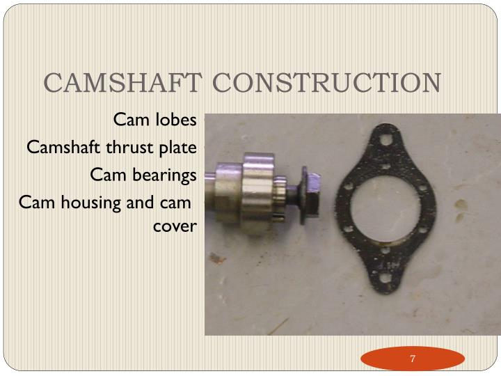 CAMSHAFT CONSTRUCTION
