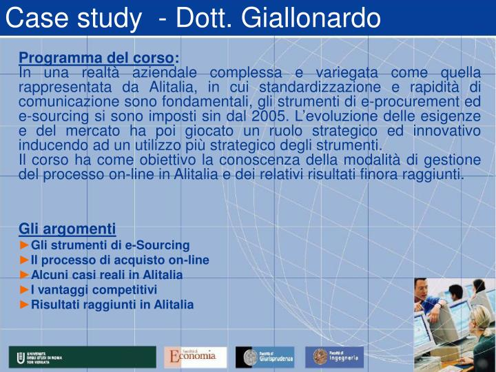 Case study  - Dott. Giallonardo