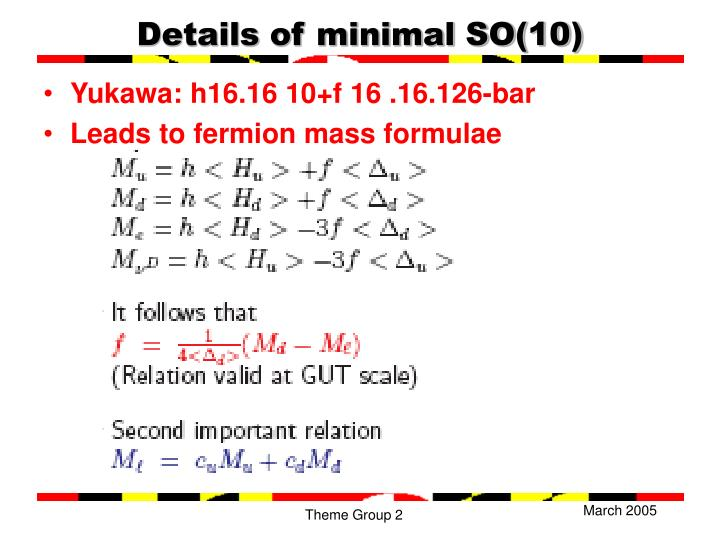Details of minimal SO(10)