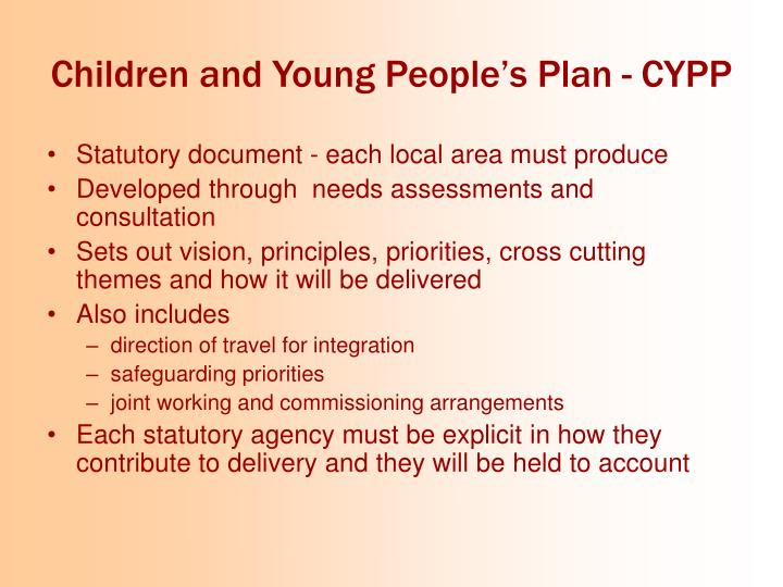 Children and Young People's Plan - CYPP