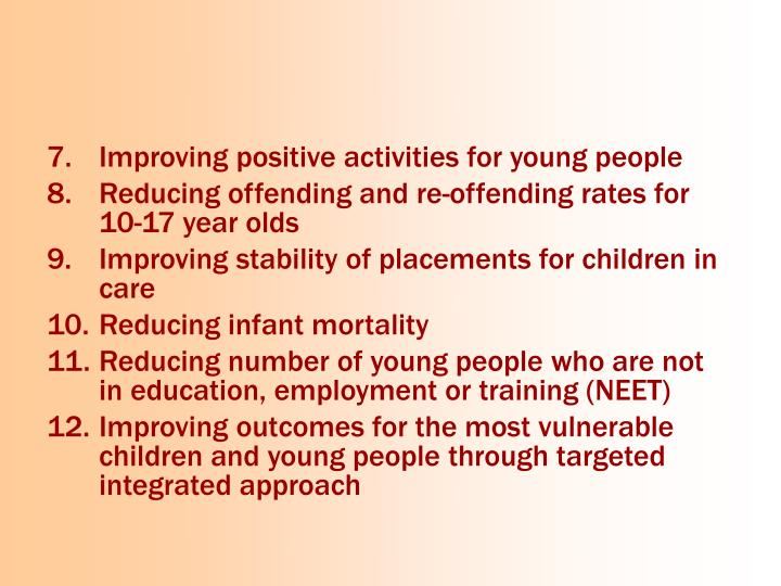 Improving positive activities for young people