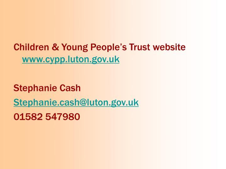 Children & Young People's Trust website
