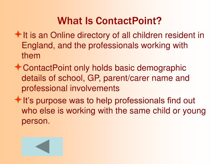 What Is ContactPoint?