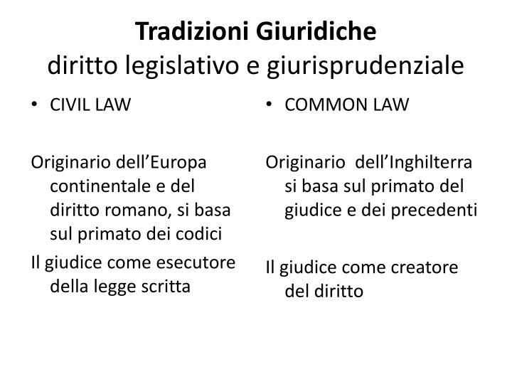 Tradizioni Giuridiche