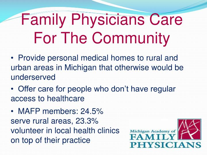 Family Physicians Care For The Community
