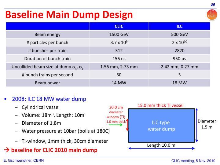 Baseline Main Dump Design