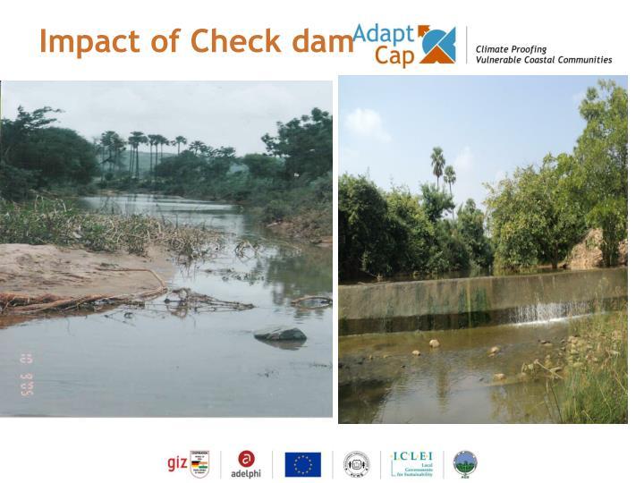 Impact of Check dam