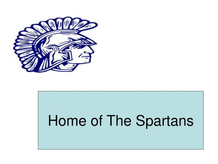 Home of The Spartans