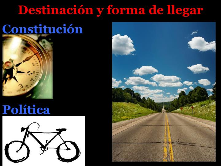 Destinación y forma de llegar